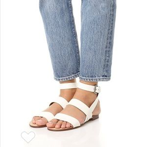 Splendid Colleen Sandals in white leather